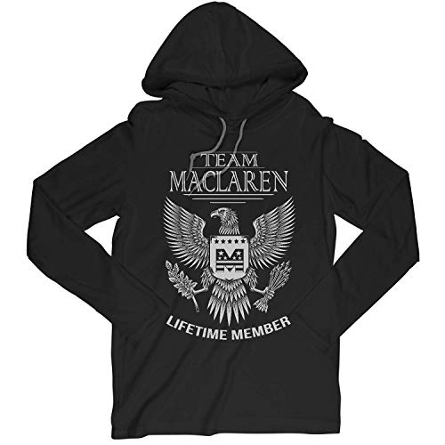 (Team Maclaren Lifetime Member Family Surname Long Sleeve Hooded T-Shirt for Families with The Maclaren Last Name Medium)
