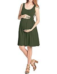 Women's Maternity Knee Length Tank Dress