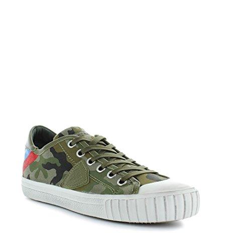 Chaussures De Sport En Coton Vert De Modèle Hommes Philippe