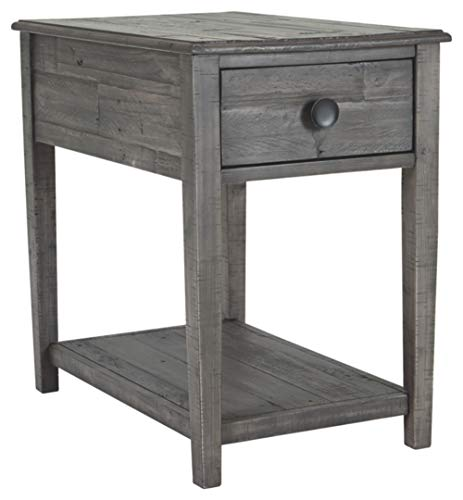 Signature Design by Ashley T831-3 Borlofield Rectangular End Table, Dark Gray