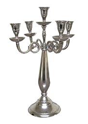 Slender Aluminum 5-Candle Candelabra 14\