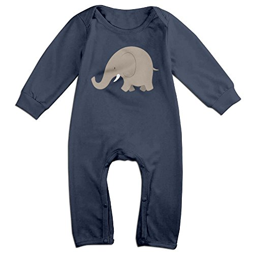 Elephant Baby Girl Boy Long Sleeves Footless Clothes Bodysuit Romper Jumpsuit