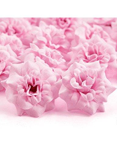 Zacoo Silk Roses Artificial Silk Flower Heads 50pcs. Silk Pink 50mm