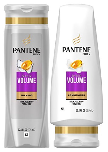 Volume, DUO Set Shampoo + Conditioner, 12.6 Ounce, 1 each (Pantene Sheer Shampoo)