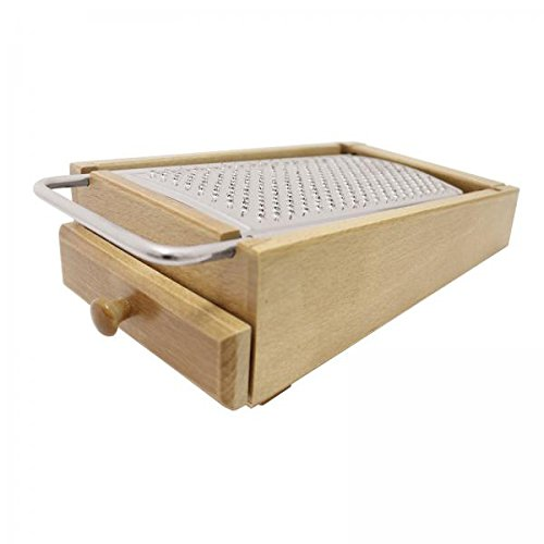 Paderno World Cuisine A4982208 Cheese Grater Box with Drawer, Brown