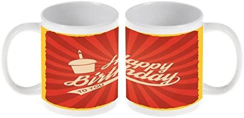 Taza Aniversario Feliz cumpleaños Ceramica impreso: Amazon ...