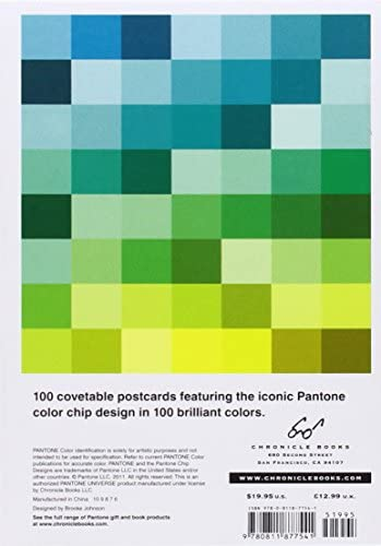office products, office, school supplies, paper, cards, card stock,  postcards 4 discount Pantone Postcard Box: 100 Postcards (Pantone Color Chip promotion