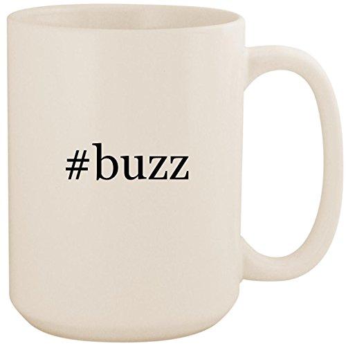 #buzz - White Hashtag 15oz Ceramic Coffee Mug Cup (Gi Joe Buzz Aldrin)