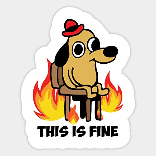 Amazoncom This Is Fine On Fire Meme Vinyl Sticker Handmade