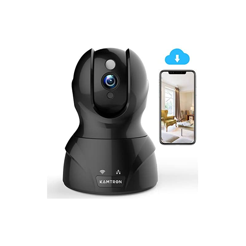 Wireless Security Camera with Two-way Au