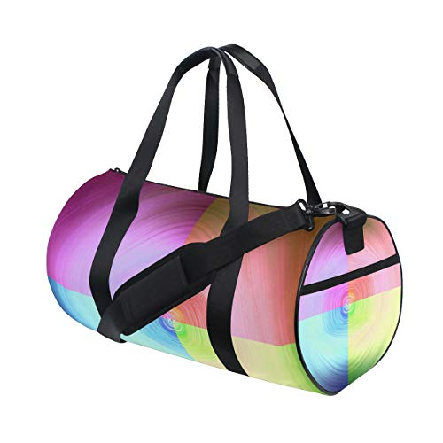Gym Sports Dance Travel Duffel Bag Interwoven Color Luggage Bag for Weekender Sports Vacation