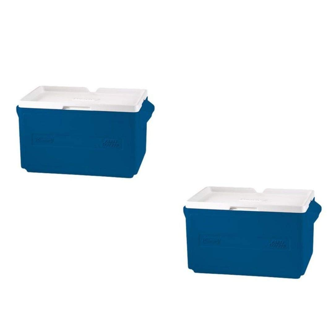 Coleman 48-Can Party Stacker Cooler, (2 Set, Blue)