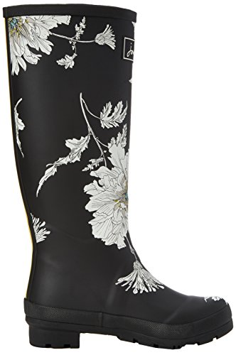 Negro Agua Print Joule Floral Mujer Tom de Botas Welly Black O0wqUv