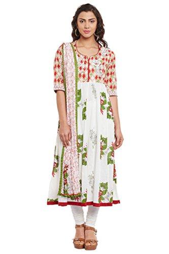 BIBA-Womens-Cotton-Anarkali-Suit-Set-Red