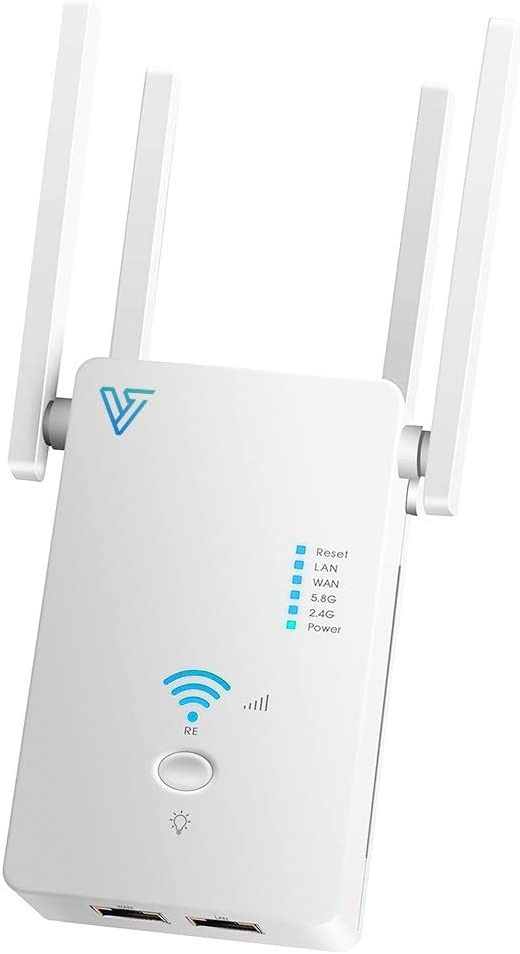 WiFi Range Extender - Coverage up to 1200 Sq ft, 1200Mbps Dual Band AC, Verratek DB-1200 WiFi Extender, Wireless Internet Signal Booster, Repeater, One Touch WPS Setup to Extend Range of WiFi Internet
