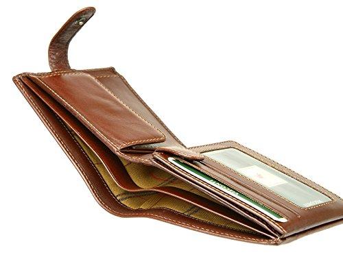 Cuero Y Billetes Caballeros De Mz5 Cartera Crédito Tarjetas Marrón De De Banco Monedas Italiano Visconti De aTtqw7a