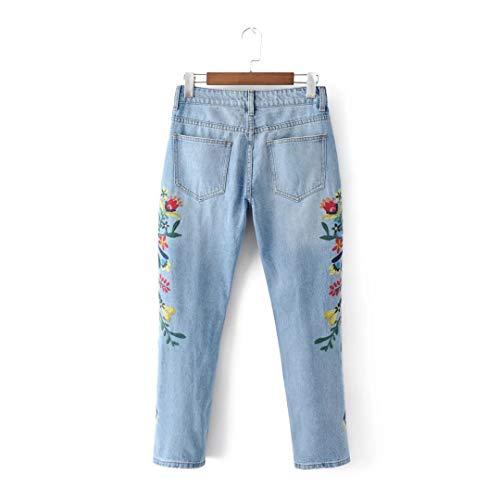 Jeans Bleu Bleu Zhrui Long Femme Pantalon qn0w8a7