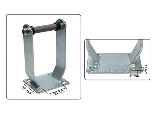 2 carcasas para rodillo 260 mm x 85 mm 3.00-4 galvanizadas sin rueda