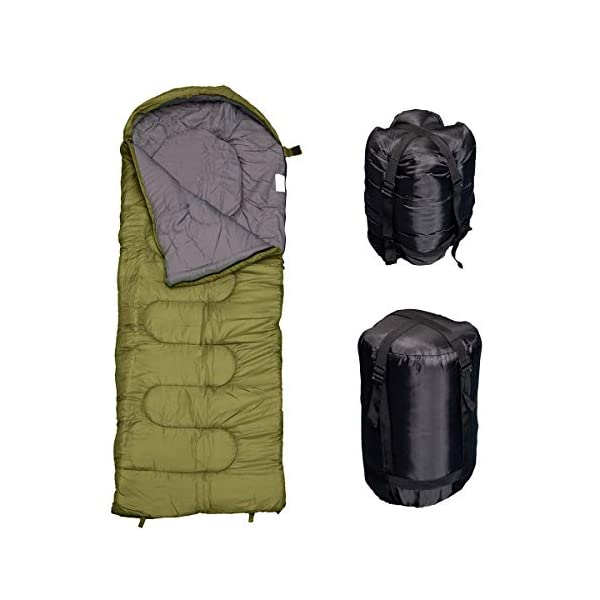 REVALCAMP Sleeping Bag for Cold Weather - 4 Season Envelope Shape Bags by Great for Kids, Teens & Adults. Warm and Lightweight - Perfect for Hiking, Backpacking & Camping 7