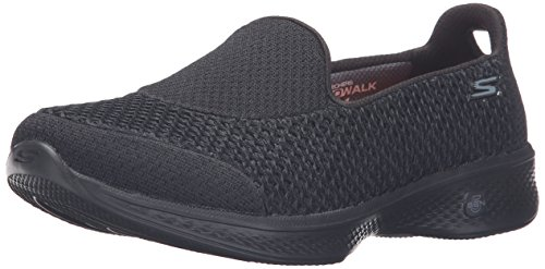 Skechers Performance Women's Go Walk 4 Kindle Slip-On Walking Shoe,Black,7.5 M US