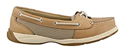 Sperry Laguna Linen-Mesh Womens Boat Shoes-7 Tan