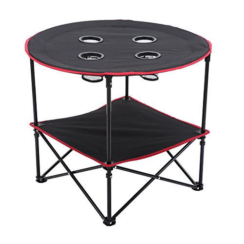 CampLand Folding Round Table with 4 Cup Holders for Camping Hiking Travel Review