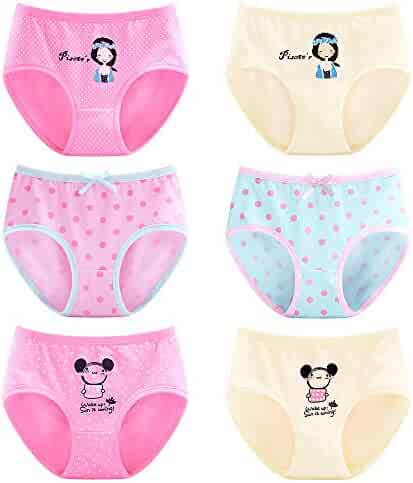 64fbdfc77ea8 BOZEVON 6 Pack Girls Boyshorts Knickers Cotton Print Briefs Size 3-13 Years