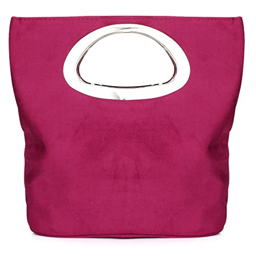 Ladies Suede Bag Evening Suede Clutch Bag Tote Bag Casual Handbag Purple