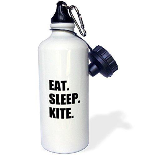Moson Water Bottle Gift for Kids Girl Boy, Eat Sleep Kite Kitesurfing Kiteboarding Kite Surfer Kiteboarder Surf Stainless Steel Water Bottle for School Office Travel 21oz by Moson
