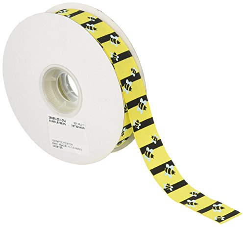 Reliant Ribbon Bubblebees Ribbon, 7/8 Inch X 25 Yards, Multi
