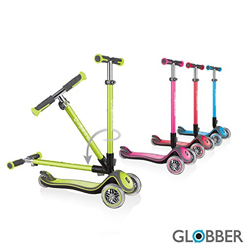Scooter Globber Elite Deluxe de 3 ruedas para niños (cubierta sólida con TBAR anodizado)