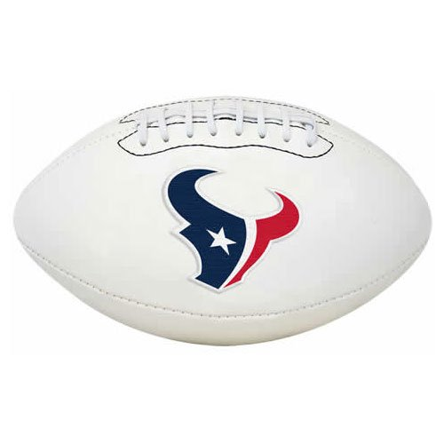 NFL Signature Series Full Regulation-Size - Houston Embroidered Texans Leather