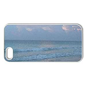 Good Morning from Cancun - Case Cover for iPhone 5 and 5S (Beaches Series, Watercolor style, White)