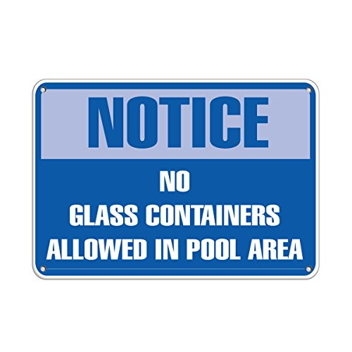 Notice No Glass Containers Allowed in Pool Area Pool Signs Vinyl Sticker Decal 8