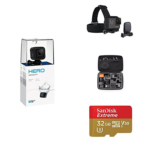 GoPro HERO Session w/ Head Strap, Carrying Case and Memory Card Action Cameras