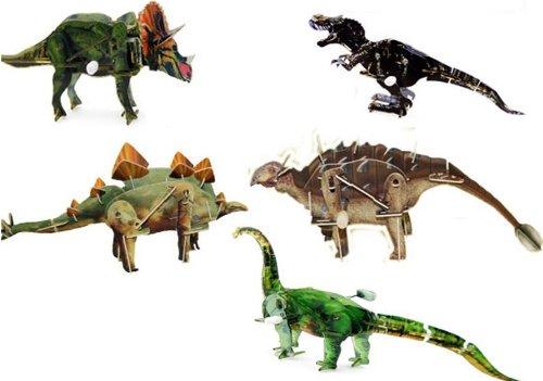 76//6078 RIVIERA GAMES Puzzle 3D Dinosaure /À Remonter Lot De 5