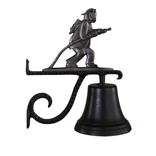 Montague Metal Products Cast Bell with Swedish Iron Fireman