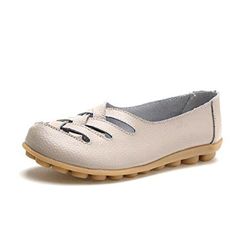 Enfermera Sandalias 5 Antideslizante Cuero De Respirable Tacón J Bajos Zapatos Bajo Casual CN38 5 SHANGXIAN EU38 Mamá UK5 B Zapatos US7 De Zapatos qER0PWx