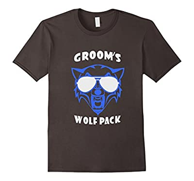 Mens Groom's Wolfpack Shirt - Funny Bachelor Party Shirt