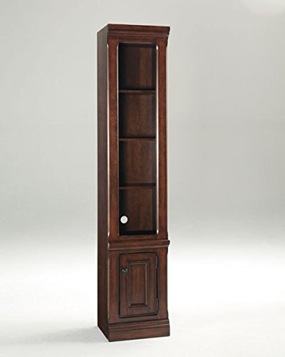 Ashley Furniture Signature Design - Gaylon Pier Cabinet - 2 Cabinets and 6 Shelves - Traditional - Burnished Brown