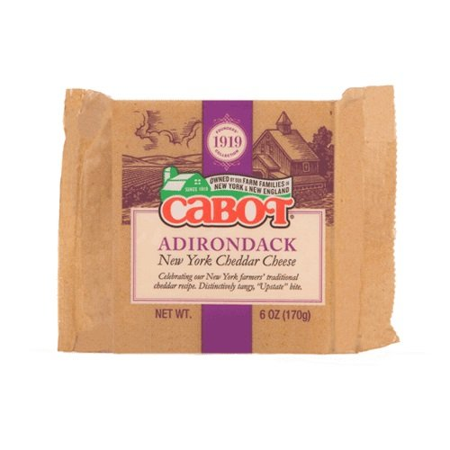 CABOT Adirondack New York Cheddar Cheese, 6 Ounce (Pack of 12)