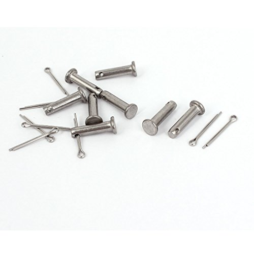 M4 x 16mm Flat Head 304 Stainless Steel Clevis Pins Fastener 8 Sets (Stainless Steel Clevis Pins)