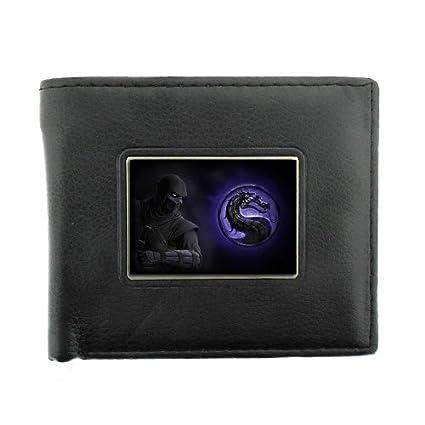 Amazon.com : Black Bifold Leather Material Wallet Ninja ...