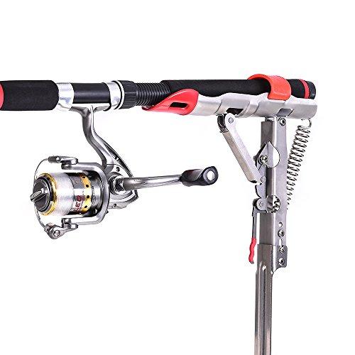 Lixada Automatic Double Spring/Automatic Spring Angle Pole Fish Rod Bracket Standard Fishing Holder