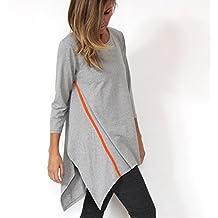 Murliyn Women's 3/4 sleeve Asymmetrical Tunic Top Shirt