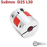 3D Innovations CHPSS599 Curved Jaw Coupling Motor Jaw Shaft Coupler 5mm X 8mm Aluminium for Coupling 3D Printer/CNC Stepper Motor Coupler Connector (1 Pc)