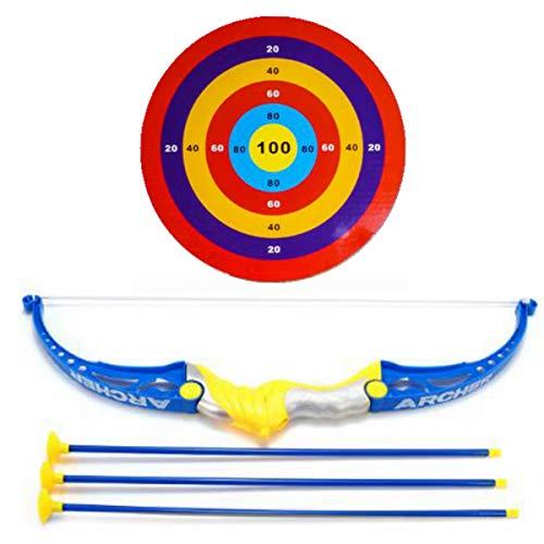 弓 Sorliva 子供のおもちゃの弓&アローアーチェリー目標の撮影を目指す屋外庭の楽しいゲームを設定する