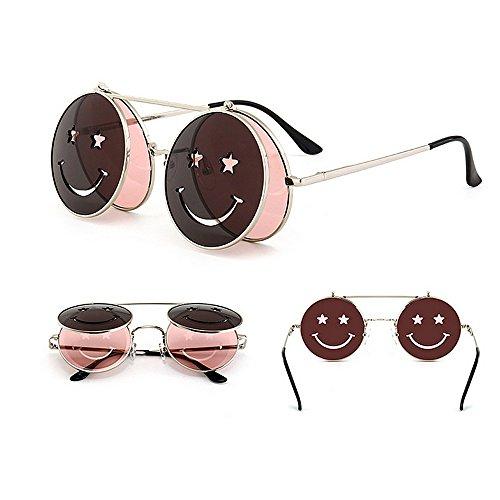Sol Gu Gafas Steampunk Vacaciones Color UV para Protección de Estilo Conducir abatibles para Peggy Verano Mujer Playa C6 C2 BCwXqxdt