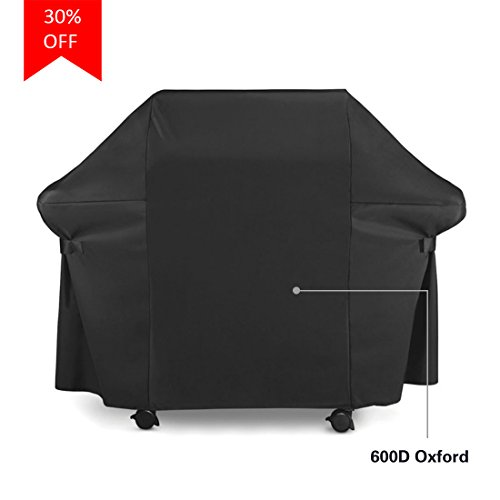 BBQ Gas Grill Cover 600D Oxford Heavy Duty Waterproof Weather Resistant Outdoor Grill Cover 60-inch with Velcro Secure Straps
