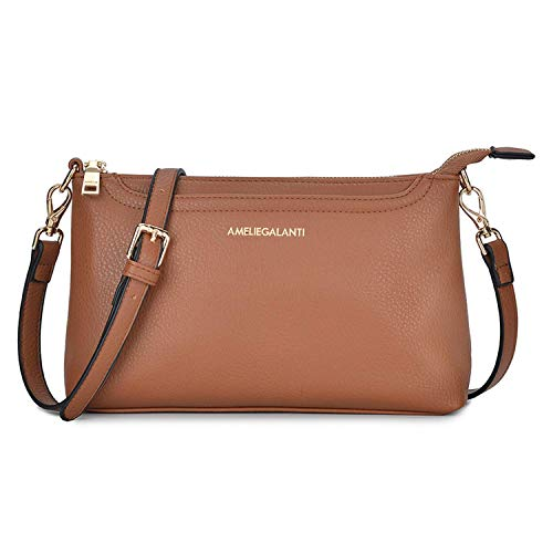 Small Shoulder Bags Zip Crossbody Bags Satchel for Women Purse by AMELIE GALANTI (Image #1)